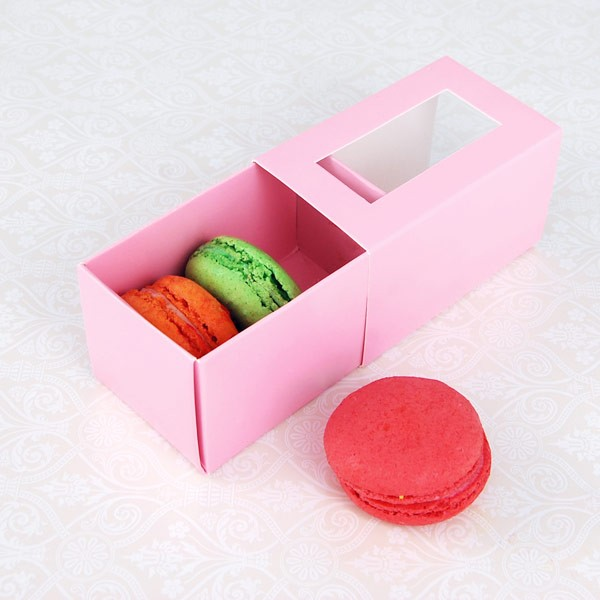 3 Pink Macaron Window Boxes($1.25/pc x 25 units)