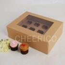 12 Kraft Cupcake Window Box ($2.50/pc x 25 units)