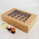 24 Kraft Brown Window Cupcake Box ($3.90pc x 25 Units)