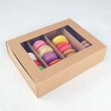 24 Macaron Kraft Window Boxes ($2.80/pc x 25 units)