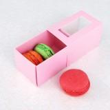 3 Pink Macaron Window Boxes($1.25/pc x 25 units)