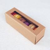 6 Macaron Kraft Brown Boxes($1.60/pc x 25 units)