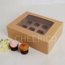 12 Kraft Brown Window MIni Cupcake Box ($3.00/pc x 25 units)