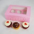 6  Window Pink Cupcake Box($2.00/pc x 25 units)